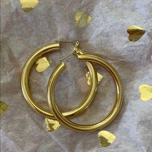 Luv AJ Amalfi gold hoops